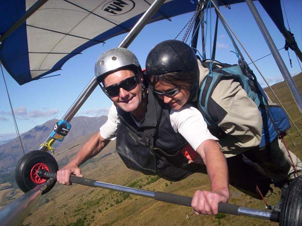 Tandemflug in Queenstown/Neuseeland